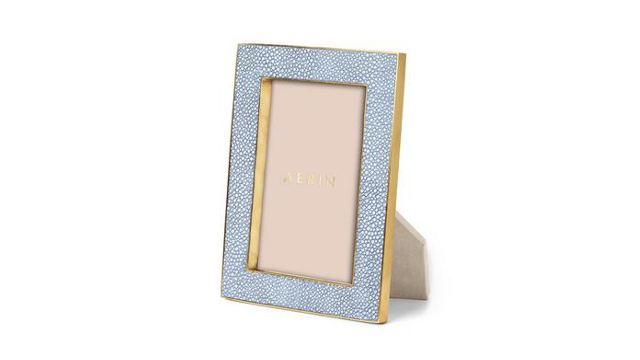 Classic Shagreen 4x6 Frame Blue