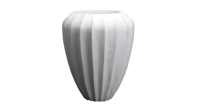 Large Fluted Vase