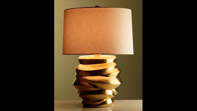 Gold Jarlet Jie Lamp
