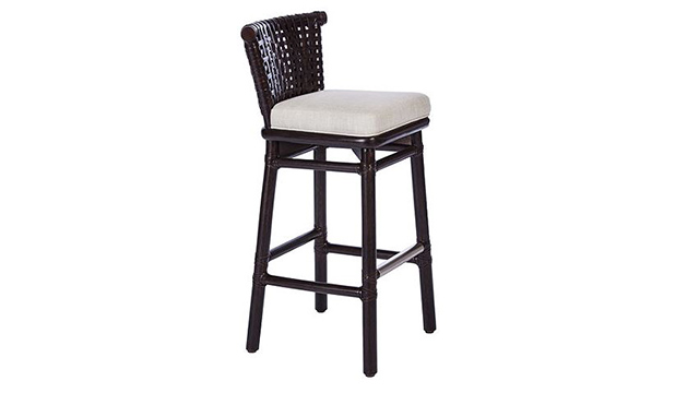 Antalya Laced Rawhide Bar Stool
