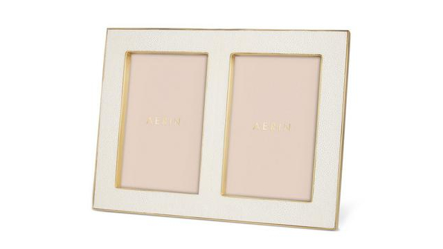 Classic Shagreen Double Frame