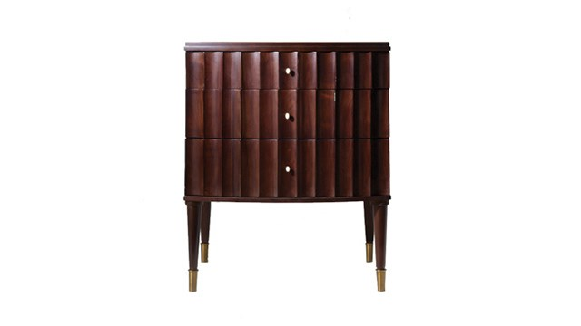 Small Fluted Night Stand