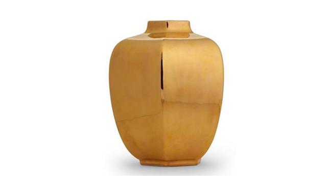 Gold Geo Vase
