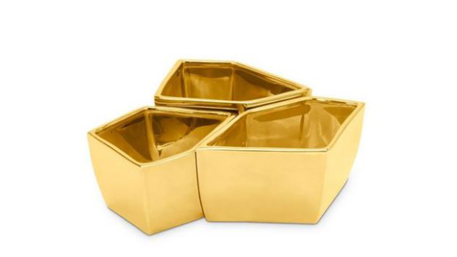 Gold Dipped Geo Bowls