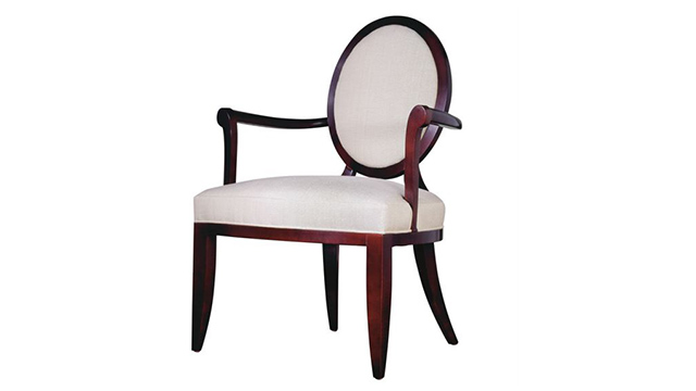 Oval X Back Dining Arm Chair