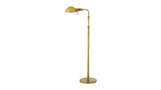 Fairfield pharmacy floor lamp in natural brass cavit co for Ralph lauren floor lamp brass