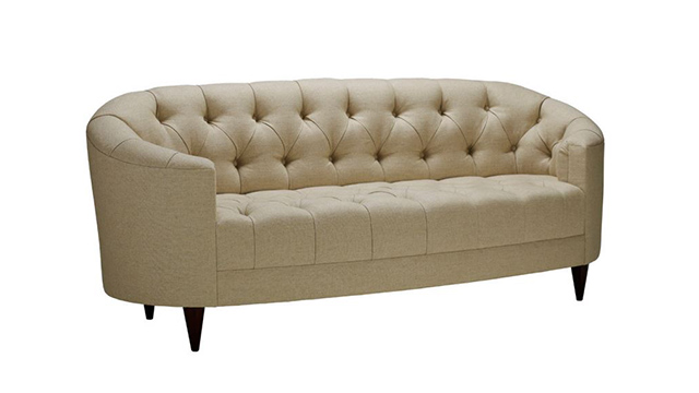 Tufted Oval Sofa
