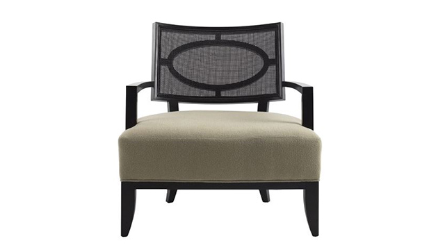 Open Oval Cane Lounge Chair