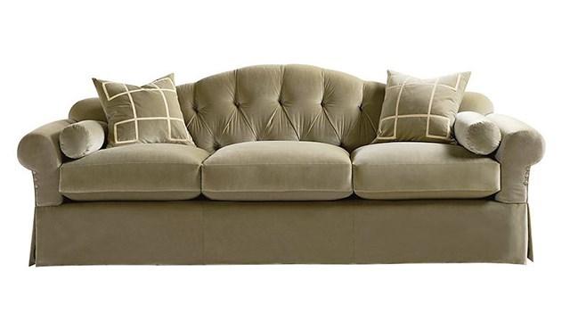 Kent Skirted Sofa - Tufted