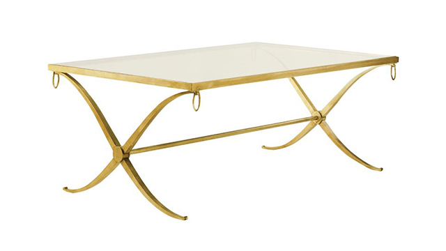 Iron Coffee Table - Gold or Silver