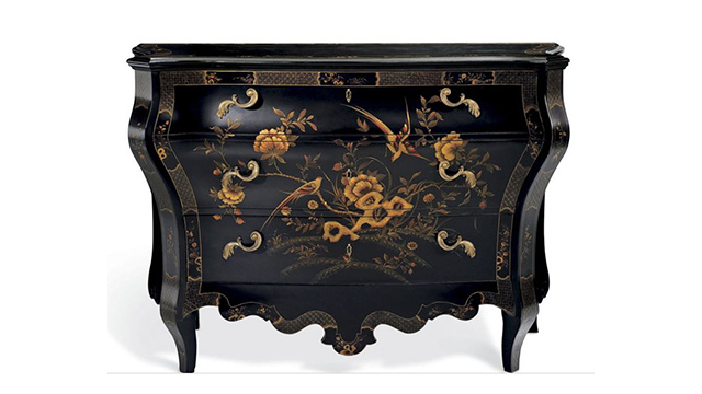 The Heiress Painted Bombe chest