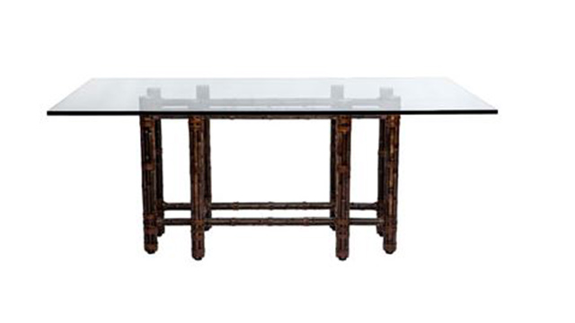 Rectangular Dining Table in Black Bamboo