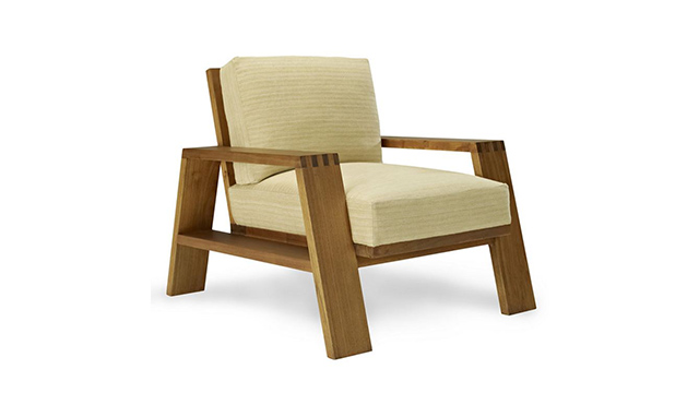 Desert Modern Wood Club Chair