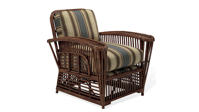 Hudson River Valley Wicker Lounge Chair