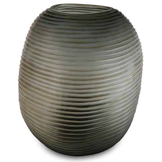 Patara Round Indigo/Smoke Grey Vase