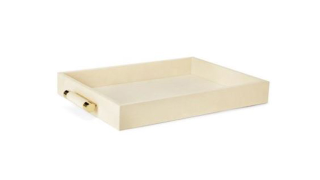 Cream Shagreen Tray