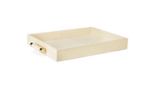Cream Shagreen Tray
