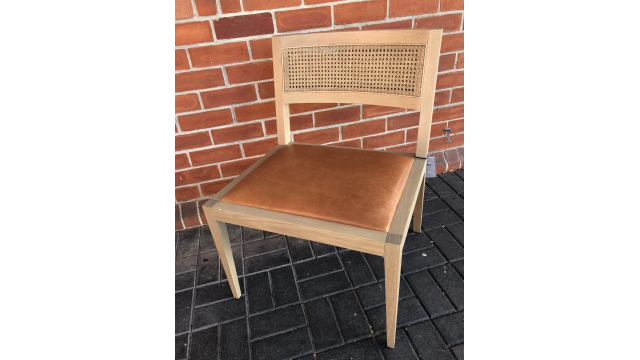 Cane back dining side chair