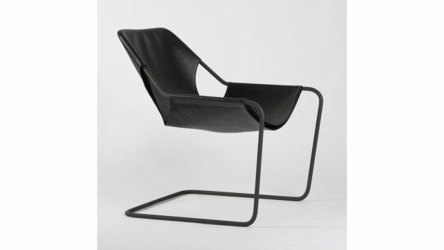 Paulistano Armchair - Black Leather