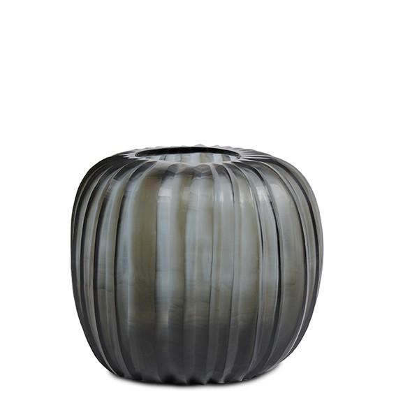 Manakara Vase Round Indigo Smoke Grey