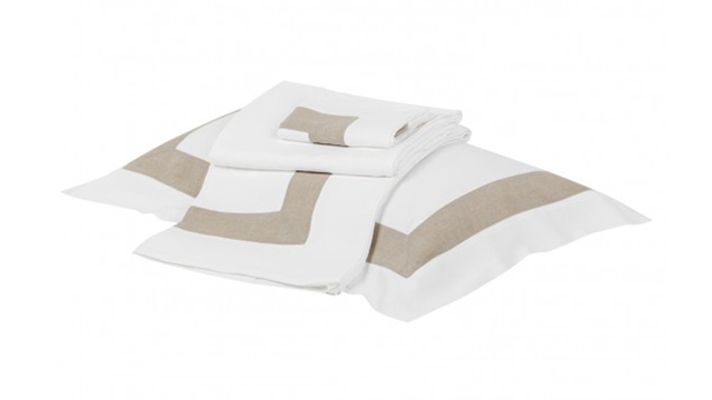 Bicolour Linen Bed Set