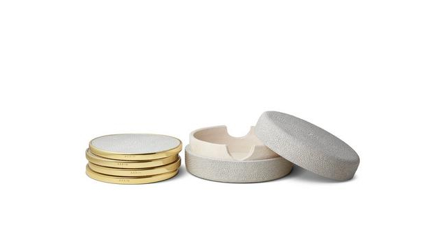 Shagreen Coaster Set Dove