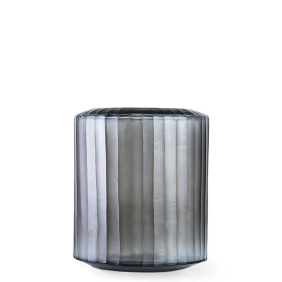 Omar Medium Indigo/Smoke Grey Vase