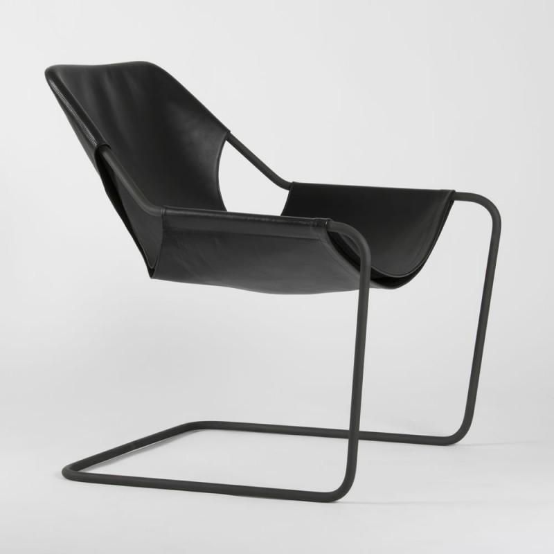 Paulistano Armchair - Black Leather