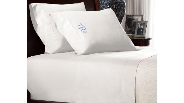 Percale Sheets - Tuxedo White
