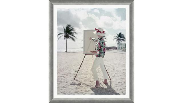 "Glamour Magazine, ""Model on Sandy Beach"""