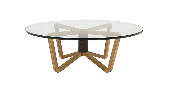 Eitlean Outdoor Teak Cocktail Table