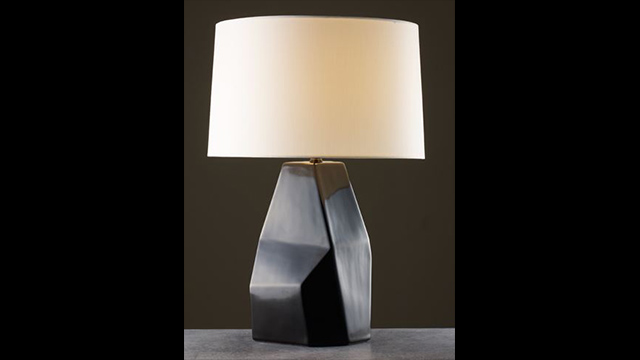 Black Lacquer Faceted Shan Lamp