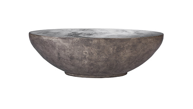 Oval Concrete Cocktail Table