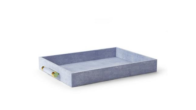 Classic Shagreen Serving Tray Blue