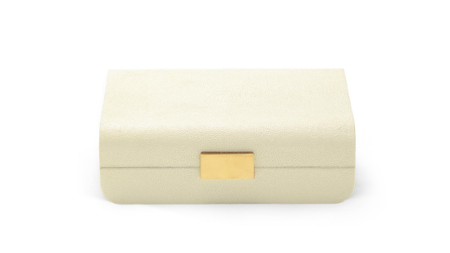 Modern Shagreen Small Jewellery Box