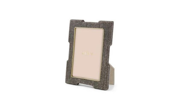 Chocolate Shagreen Deco Frame