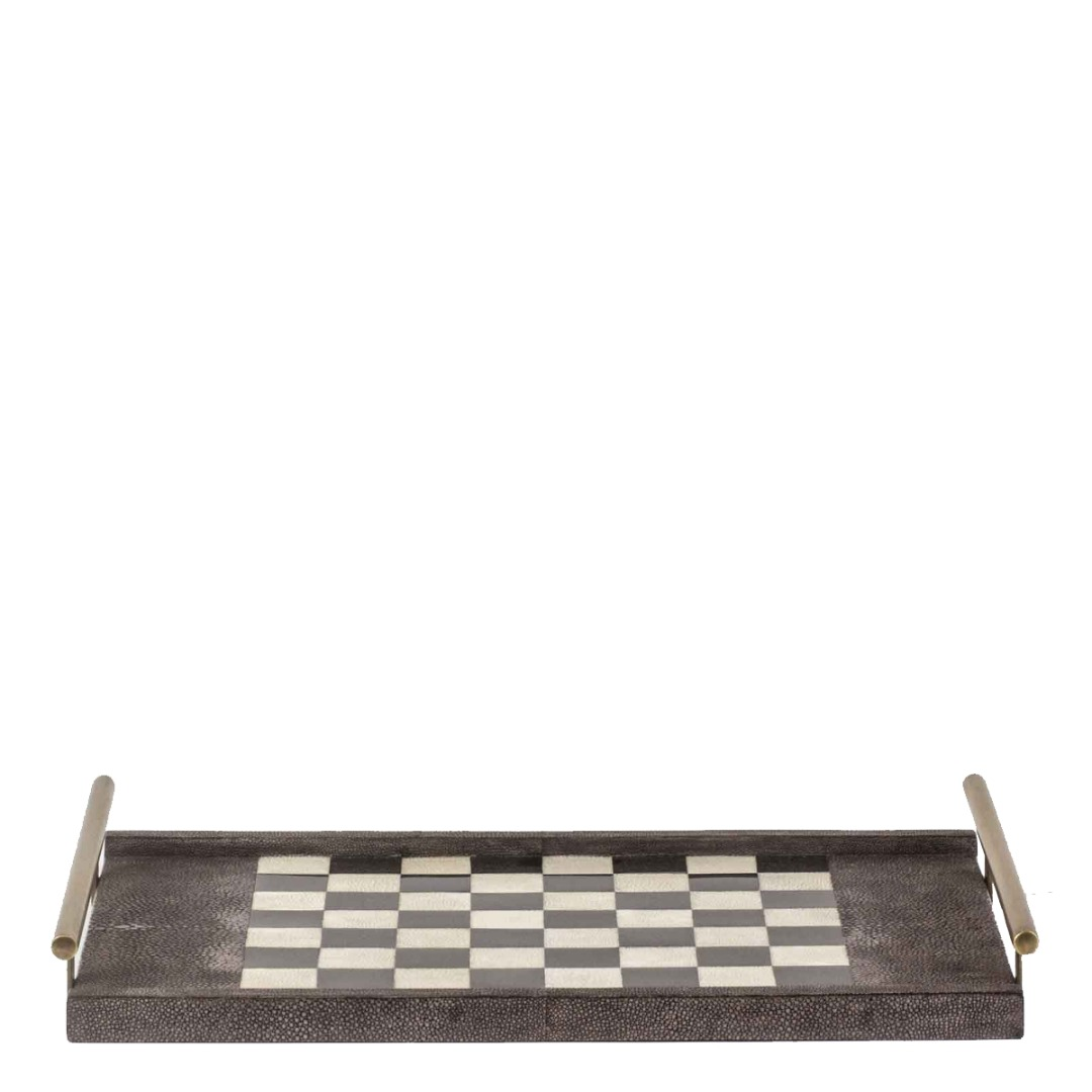 Chess-Checkers Game Tray