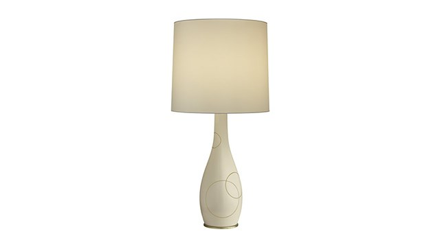 Swan Circle Table Lamp