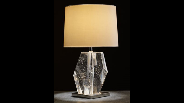 Crystal Faceted Lamp