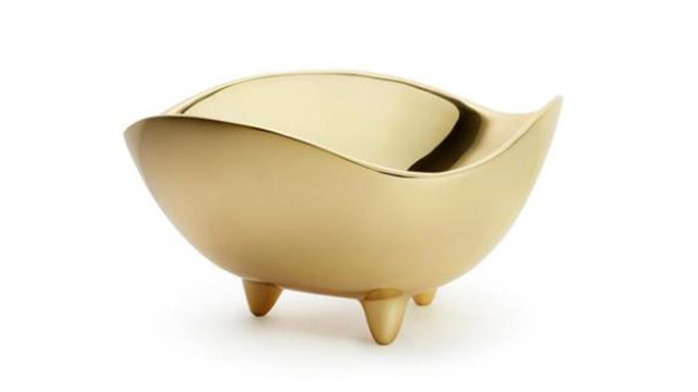 Footed Deco Bowl Large