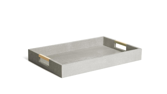 Modern Shagreen Desk Tray Dove
