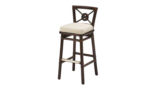 Rattan Target Bar/Counter Stool