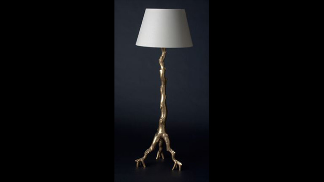 Gold Twig Floor Lamp