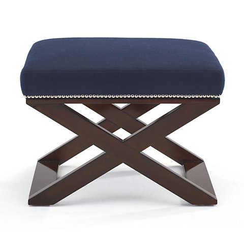 Cote D'Azure cross braced stool