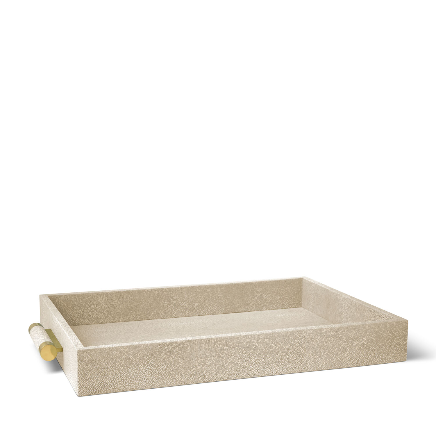 CLASSIC SHAGREEN SERVING TRAY (WHEAT)