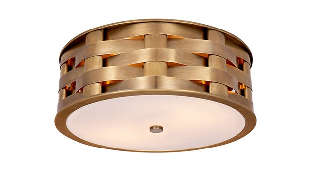Ella Woven Medium Flush Mount