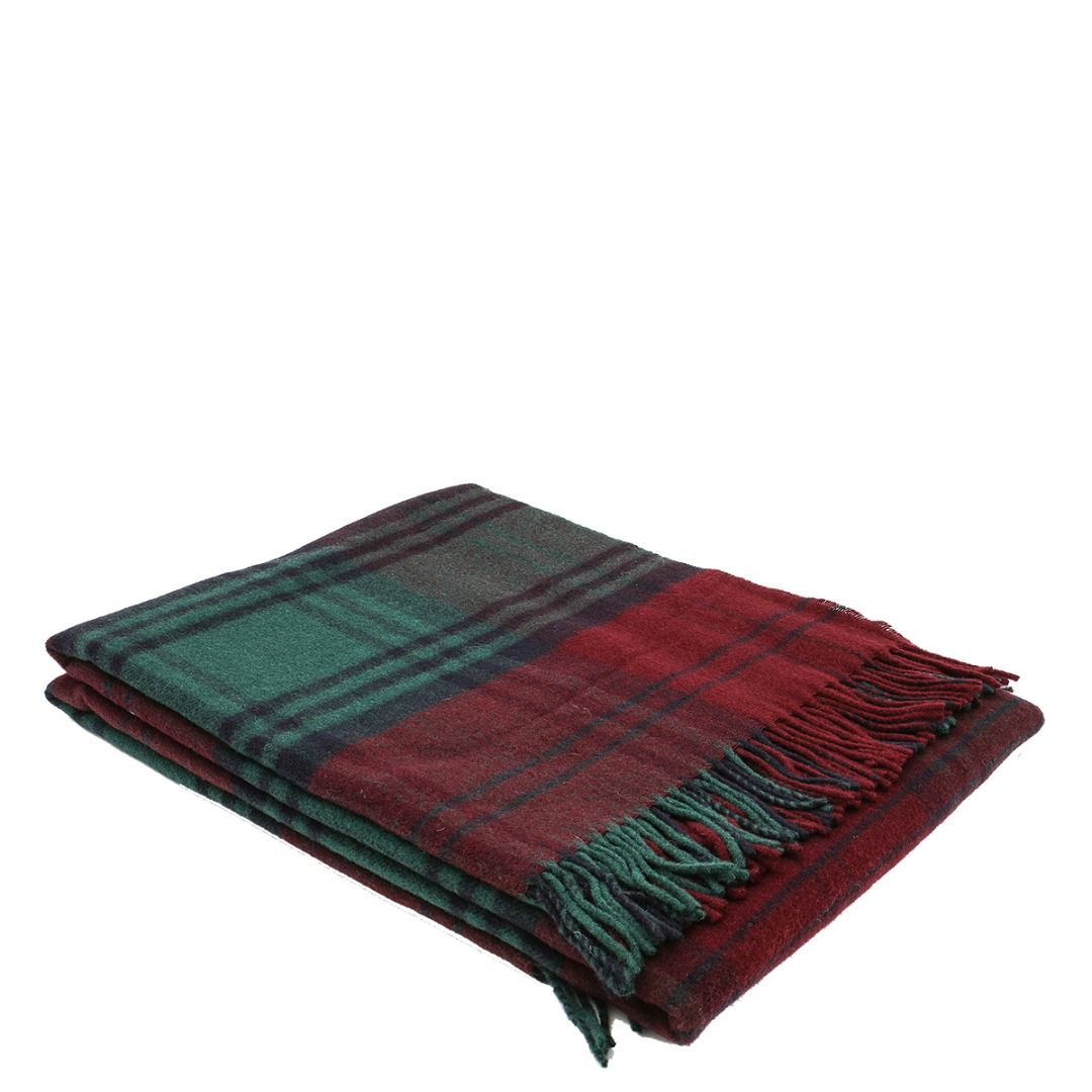 Lambswool Scozzese Throw Red (C1)