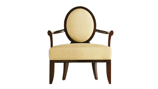 Oval X Back Chair