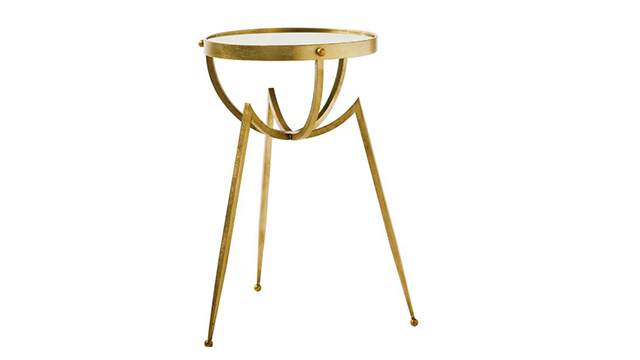 Iron Tripod Table - Gold Leaf