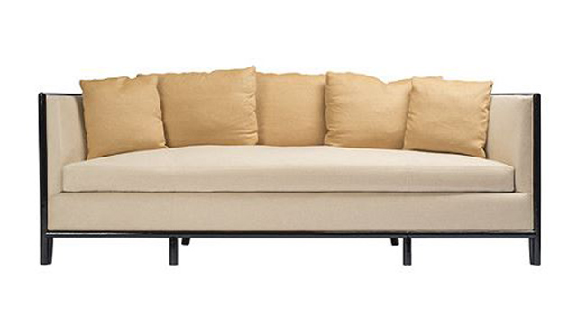 Lunette Sofa with Caned Back